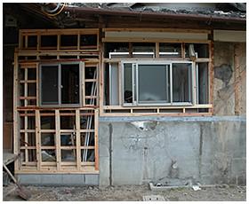 外壁の下地が完成