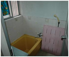 年数の経過で傷んできた浴室