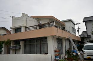 築年数50年が経過した鉄筋コンクリート造二階建ての住宅
